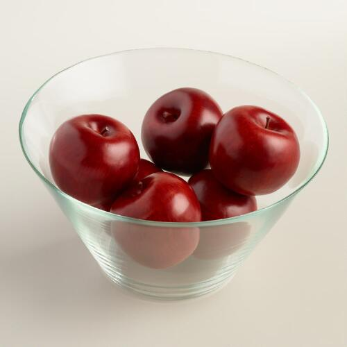 Decorative Red Apples, 6-Piece