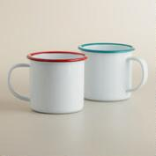 Enamelware Mugs, Set of 2