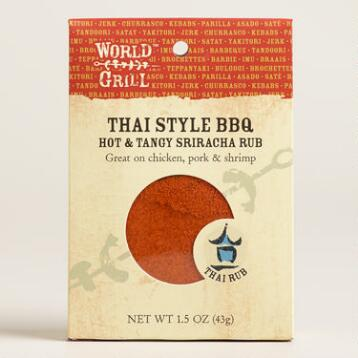 World Grill Thai Style BBQ Sriracha Rub, Set of 6