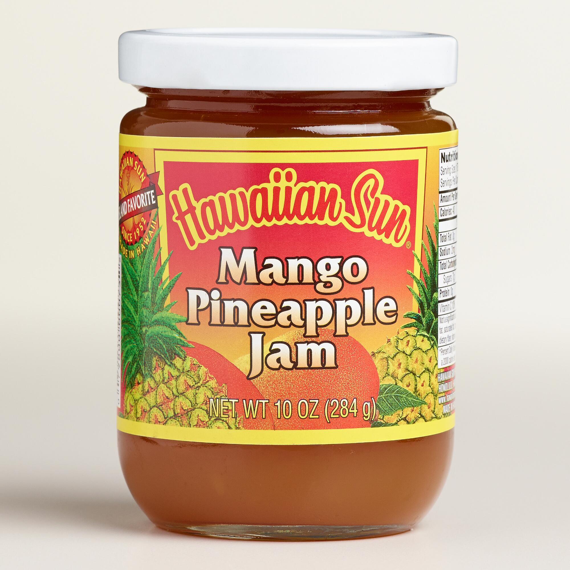 Pineapple and mango jam