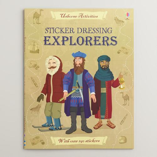 Sticker Dressing Explorers Book