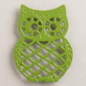 Green Cast Iron Owl Trivet