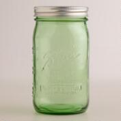 1-Quart Green Heritage Ball Jars, Set of 6