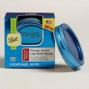 Blue Canning Ball Jar Lids and Bands, 6-Pack