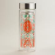 Coral Jade Glass Tea Carafe