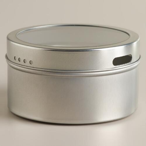 Silver Magnetic Spice Storage Tin