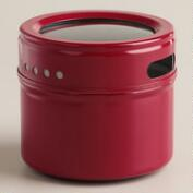 Red Magnetic Spice Storage Tin