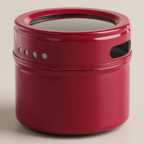 Red Magnetic Spice Storage Tin, Set of 12