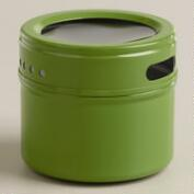 Green Magnetic Spice Storage Tin, Set of 12