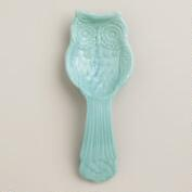 Aqua Owl Spoon Rest