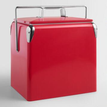 Cherry Red Retro Cooler