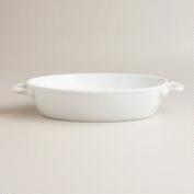 Small White Oval Baker