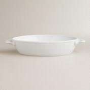 Medium White Oval Baker