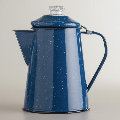 Royal Blue Enamel Coffee Percolator