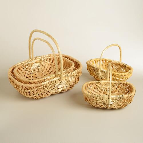 Natural Oval Jackie Baskets