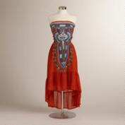 Red and Blue Lalita Dress