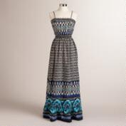 Blue and Black Avery Maxi Dress