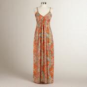Orange and Turquoise Isabel Maxi Dress
