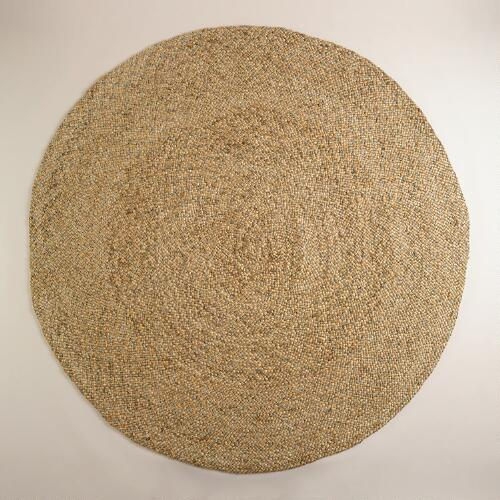 Round Natural Braided Jute Rug