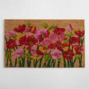 Pink  Poppies Doormat