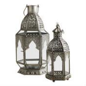Antiqued Zinc Latika Tabletop Lanterns
