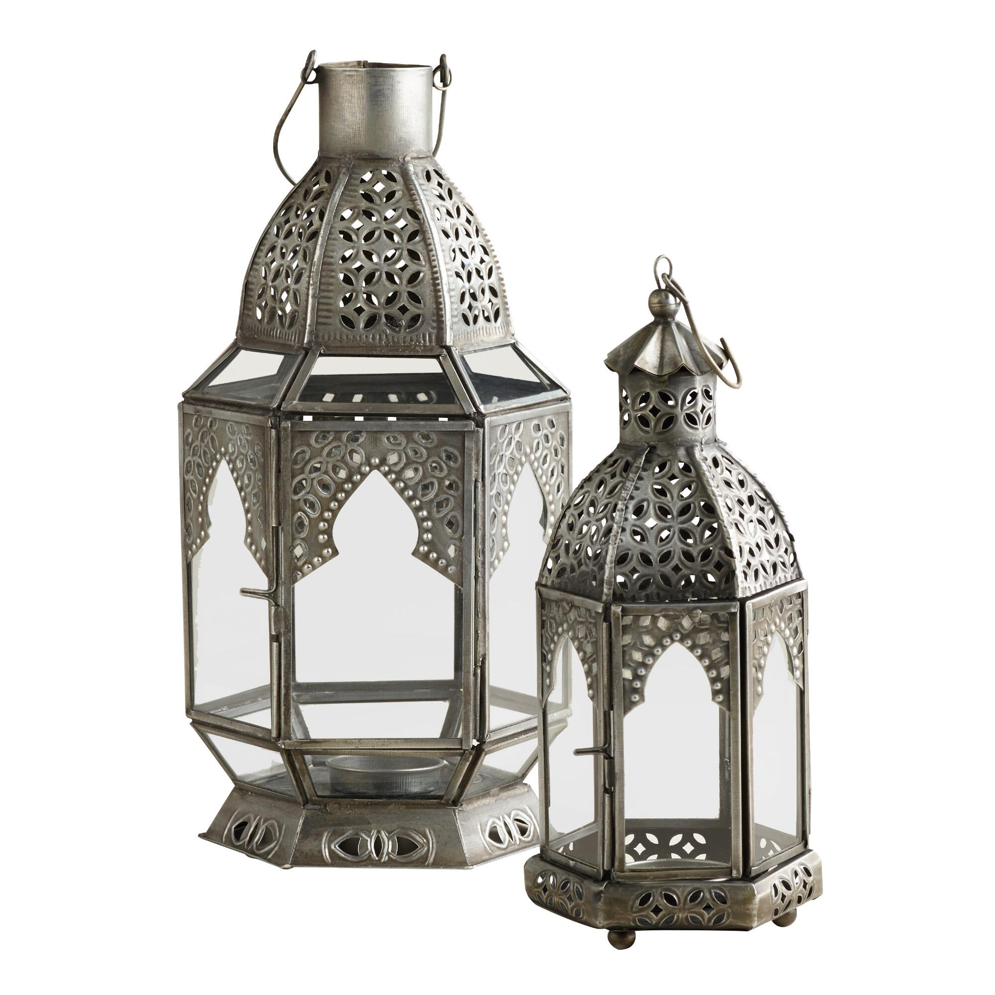 Antiqued Zinc Latika Tabletop Lanterns World Market