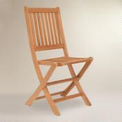Sumar Teak Folding Side Chairs, Set of 2