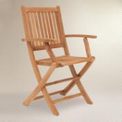 Sumar Teak Folding Armchairs, Set of 2