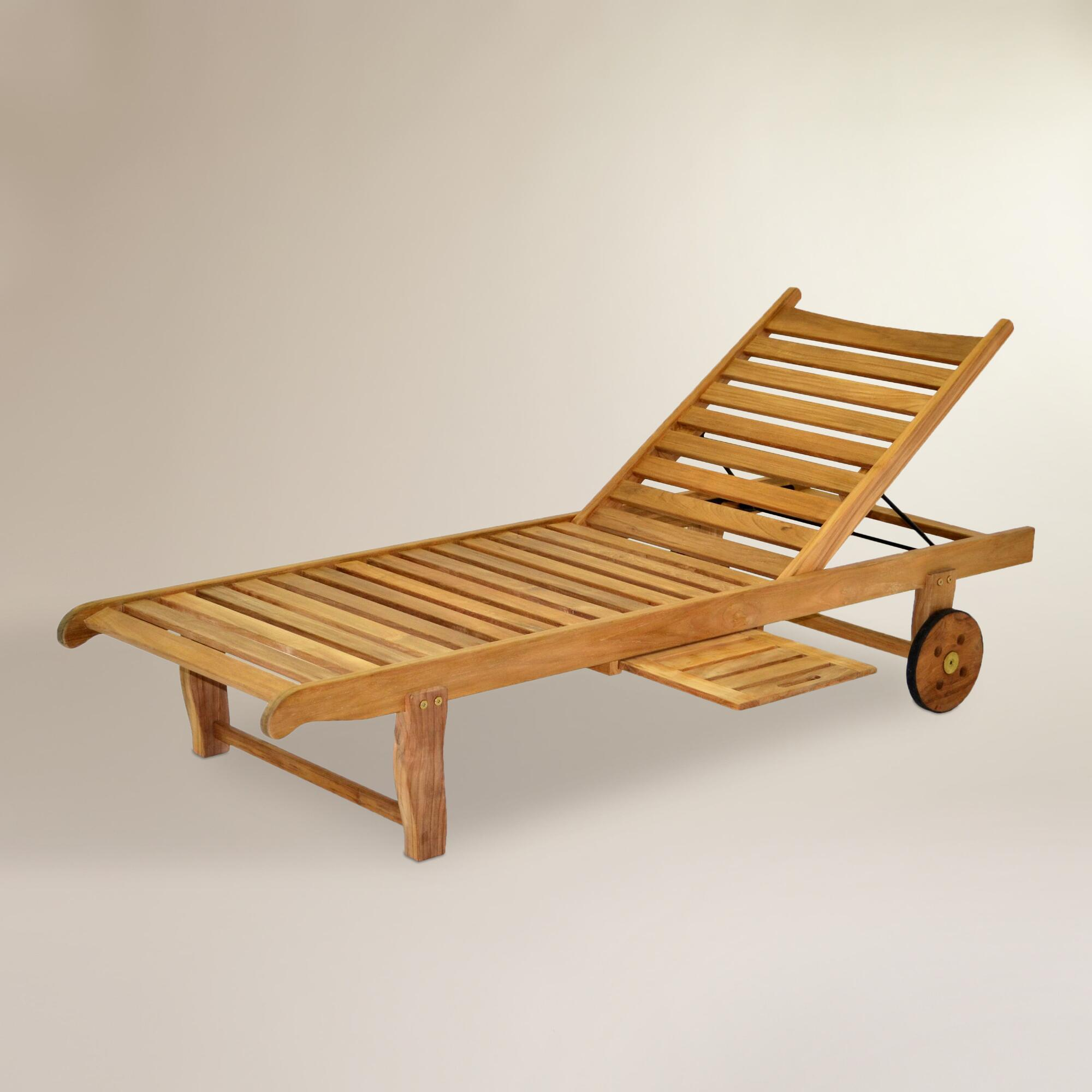 Sawarna Teak Outdoor Chaise Lounge