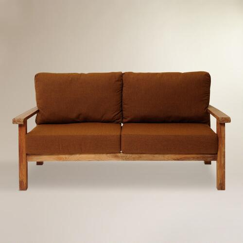 Sawarna Teak Outdoor Loveseat with Sunbrella Cushion