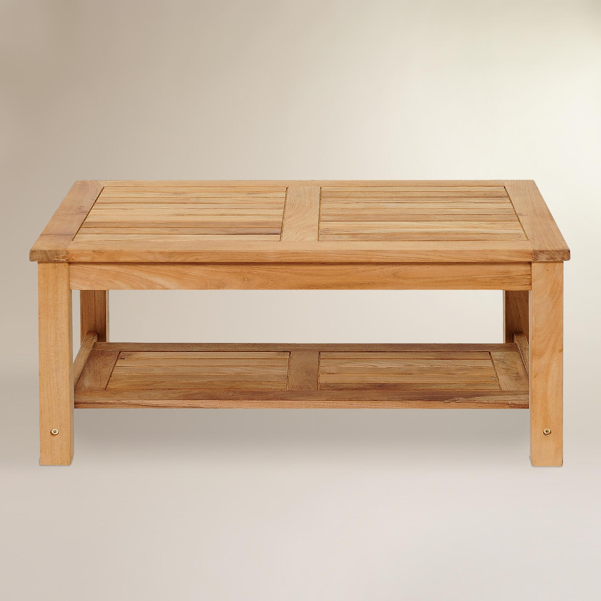 Sawarna Teak Outdoor Coffee Table World Market