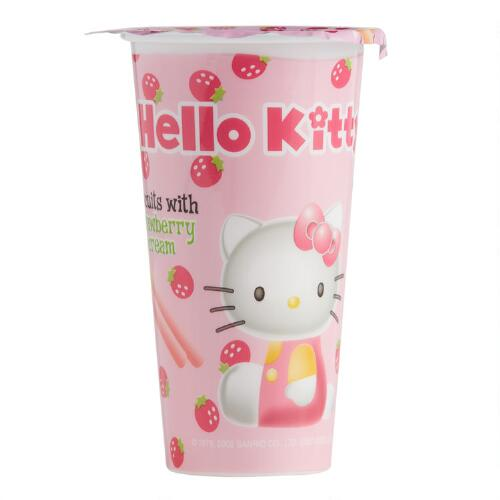 Hello Kitty Strawberry Dip Biscuits, Set of 8