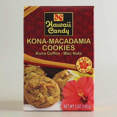 Hawaii Candy Kona Coffee Macadamia Nut Cookies