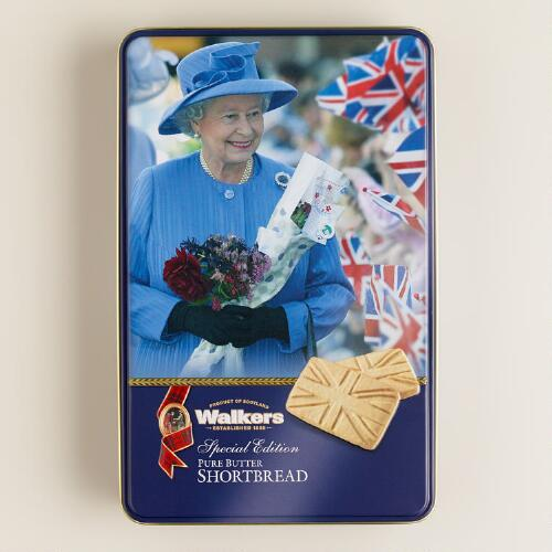 Walkers Shortbread Union Jack Queen Tin