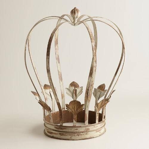 Large Metal Crown Decor