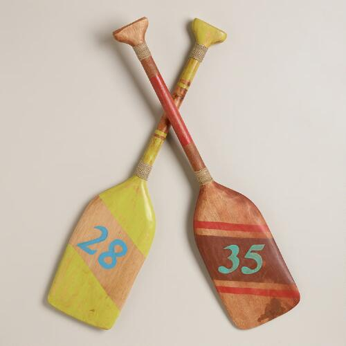 Striped Oars Decor, Set of 2