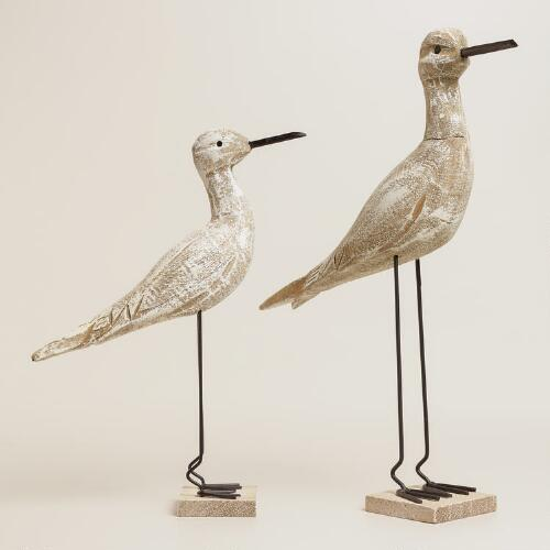 Wooden Bird on Stand Decor