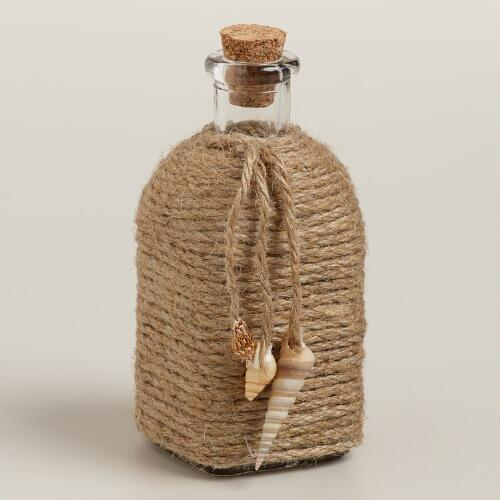 Mini Jute-Wrapped Glass Bottle