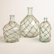 Glass Bottle with Jute Trim