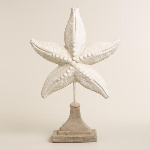 Paper Mache Starfish on Stand