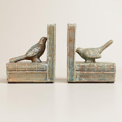 Bird Ceramic Bookends, Set of 2