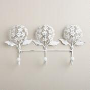 Whitewash 3-Prong Hydrangea Hook