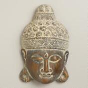 Wood Buddha Mask Decor