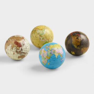 Sphere Globes,  Set of 4