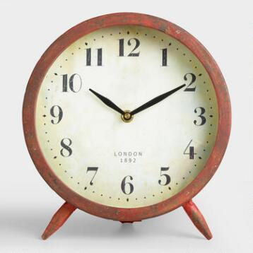 Large Red Charlie Clock