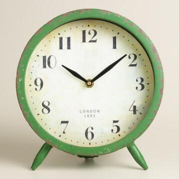 Large Green Charlie Clock