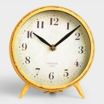 Small Yellow Charlie Clock
