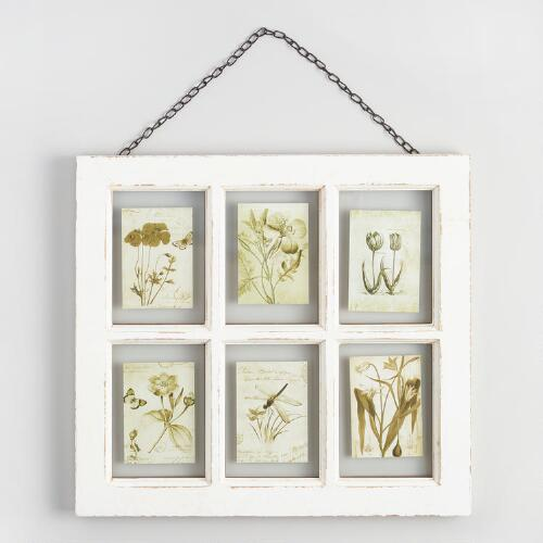 White Vintage 6-Photo Frame