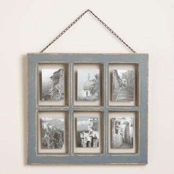 Gray Vintage 6-Photo Frame