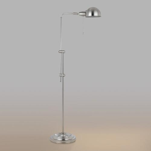Brushed Steel Crosby Pharmacy Floor Lamp